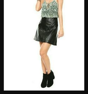 Guess los angeles faux leather Skirt